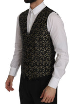 Dolce & Gabbana Black Star Patterned Slim Formal Vest - Men - Apparel - Suits - Vest - Dolce & Gabbana | Gethuda Fashion