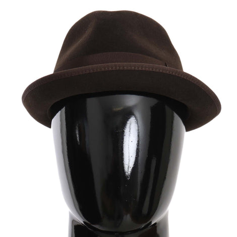 Dolce & Gabbana Brown Virgin Wool Fedora Trilby Cappello Hat