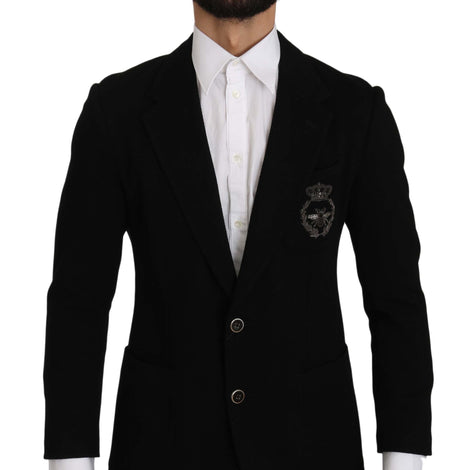 Dolce & Gabbana Black Crown Royal Bee Jacket Blazer - Men - Apparel - Outerwear - Blazers - Dolce & Gabbana | Gethuda Fashion