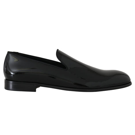Dolce & Gabbana Black Patent Leather Mens Loafers - Men - Shoes - Loafers Drivers - Dolce & Gabbana | Gethuda Fashion