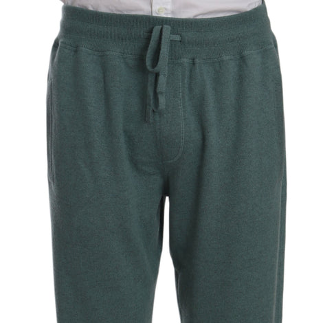 Dolce & Gabbana Green Cashmere Sweatpants Training Trouser Pants