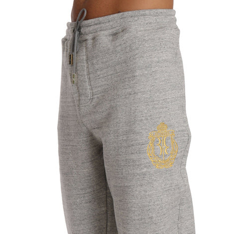 Billionaire Italian Couture Gray Cotton Sweater Pants  Tracksuit