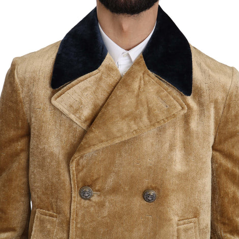 Dolce & Gabbana Yellow Double Breasted Trenchcoat Jacket - Men - Apparel - Outerwear - Jackets - Dolce & Gabbana | Gethuda Fashion