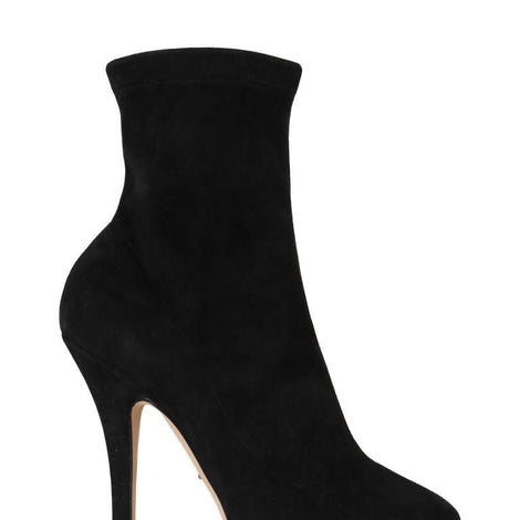 Dolce & Gabbana Black Suede Platform Ankle Boot - Women - Shoes - Sandals - Dolce & Gabbana | Gethuda Fashion