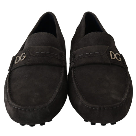 Dolce & Gabbana Brown Leather Flat Loafers Casual Shoes - Men - Shoes - Oxfords - Dolce & Gabbana | Gethuda Fashion