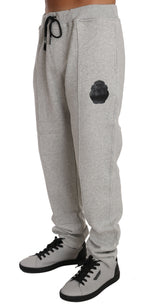 Gray Cotton Sweater Pants Tracksuit -  - Billionaire Italian Couture | Gethuda Fashion