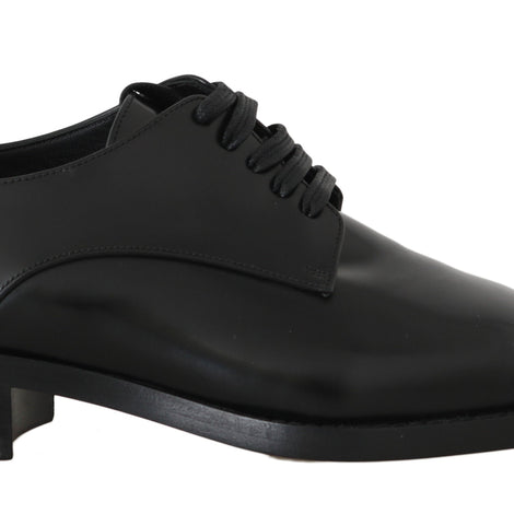 Dolce & Gabbana Black Leather Broques Dress Formal Shoes - Women - Shoes - Flats - Dolce & Gabbana | Gethuda Fashion