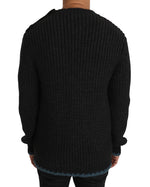 Dolce & Gabbana Black Knit Wool Crewneck Pullover Sweater - Men - Apparel - Sweaters - Pull Over - Dolce & Gabbana | Gethuda Fashion