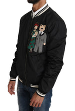 Dolce & Gabbana Black #DGFamily Applique Bomber Jacket - Men - Apparel - Outerwear - Jackets - Dolce & Gabbana | Gethuda Fashion