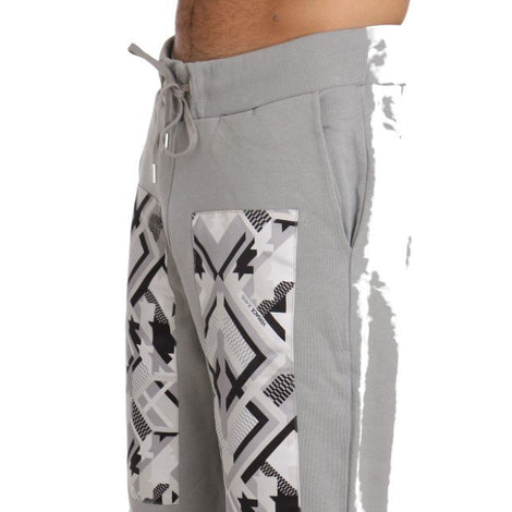 Training Casual Gray Cotton Trousers Mens -  - Versace Jeans | Gethuda Fashion