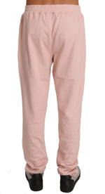 Billionaire Italian Couture Pink Cotton Sweater Pants Tracksuit -  - Billionaire Italian Couture | Gethuda Fashion