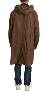Dolce & Gabbana Black Brown Hooded Reversible Raincoat - Men - Apparel - Outerwear - Jackets - Dolce & Gabbana | Gethuda Fashion