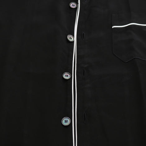 Dolce & Gabbana Black 100% Silk Casual Lounge Shirt