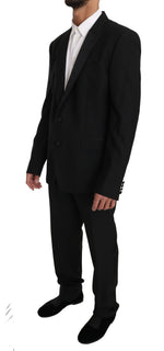 Dolce & Gabbana Blue Wool MARTINI 2 Piece Slim Suit - Men - Apparel - Suits - Classic - Dolce & Gabbana | Gethuda Fashion