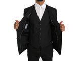 Dolce & Gabbana Blazer Vest 2 Piece Gray Wool MARTINI - Men - Apparel - Outerwear - Blazers - Dolce & Gabbana | Gethuda Fashion