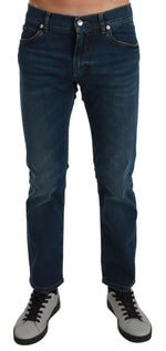 Blue Wash Cotton Denim Stretch LUXURY Jeans