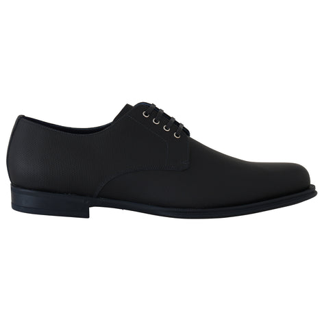 Dolce & Gabbana Blue Leather Derby Dress Formal Shoes