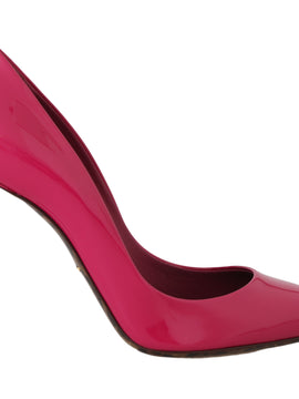 Dolce & Gabbana Pink Leather Classic Heels Pumps