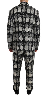 Dolce & Gabbana Black Wool Pineapple 2 Piece Slim - Men - Apparel - Shirts - Dress Shirts - Dolce & Gabbana | Gethuda Fashion