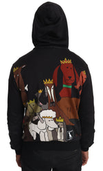 Dolce & Gabbana Gray Cotton Dog Crown Hooded Sweater - Men - Apparel - Outerwear - Jackets - Dolce & Gabbana | Gethuda Fashion