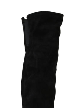 Dolce & Gabbana Black Suede Leather Over Knee Boots