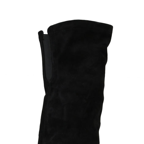 Dolce & Gabbana Black Suede Leather Over Knee Boots -  - Dolce & Gabbana | Gethuda Fashion