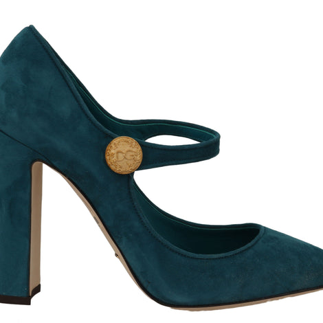 Blue Suede Leather Mary Jane Pumps - Women - Shoes - Pumps - Dolce & Gabbana | Gethuda Fashion