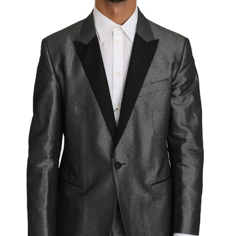 Dolce & Gabbana Gray Patterned MARTINI 2 Piece Suit