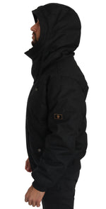 Dolce & Gabbana Black Wool DG Crown Hooded Winter Puffer Jacket - Men - Apparel - Outerwear - Jackets - Dolce & Gabbana | Gethuda Fashion
