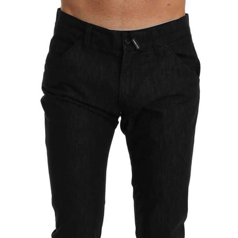 Dolce & Gabbana Black CLASSIC Stretch Cropped Jeans