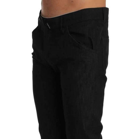 Dolce & Gabbana Black CLASSIC Stretch Cropped Jeans - Men - Apparel - Denim - Jeans - Dolce & Gabbana | Gethuda Fashion