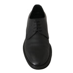 Dolce & Gabbana Black Leather Laceups Derby Laceups Shoes - Men - Shoes - Oxfords - Dolce & Gabbana | Gethuda Fashion