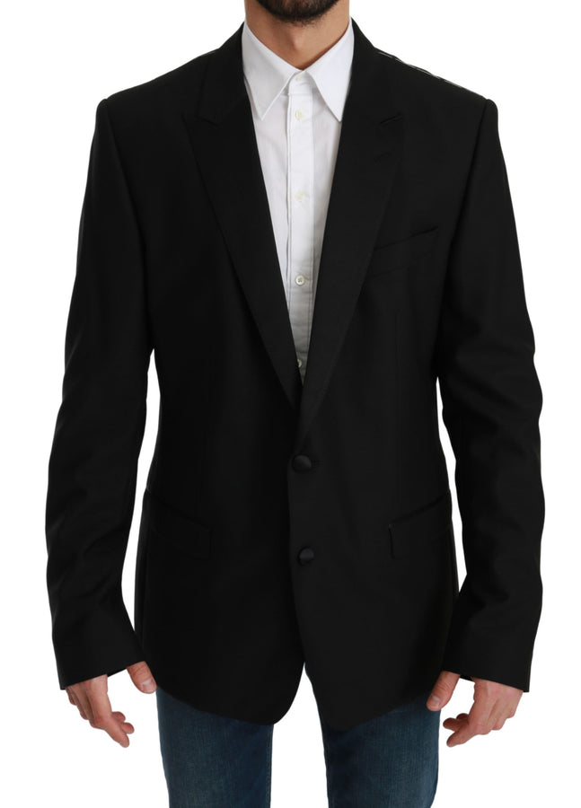 Black Single Breasted Formal MARTINI Blazer