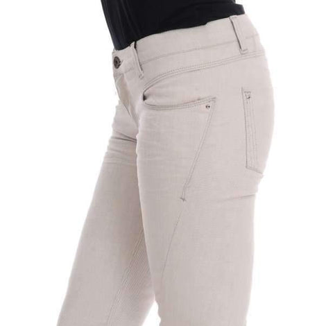 White Cotton Stretch Slim Jeans - Women - Apparel - Denim - Jeans - Costume National | Gethuda Fashion