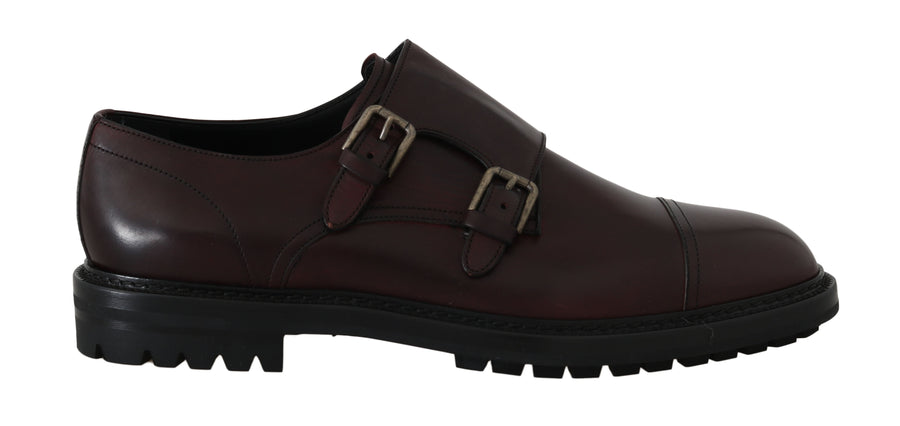 Dolce & Gabbana Bordeaux Leather Derby Monkstrap - Men - Shoes - Oxfords - Dolce & Gabbana | Gethuda Fashion