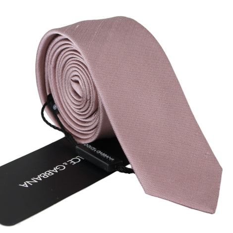 Dolce & Gabbana Pink Textured Classic Mens Slim Necktie - Men - Accessories - Ties - Dolce & Gabbana | Gethuda Fashion