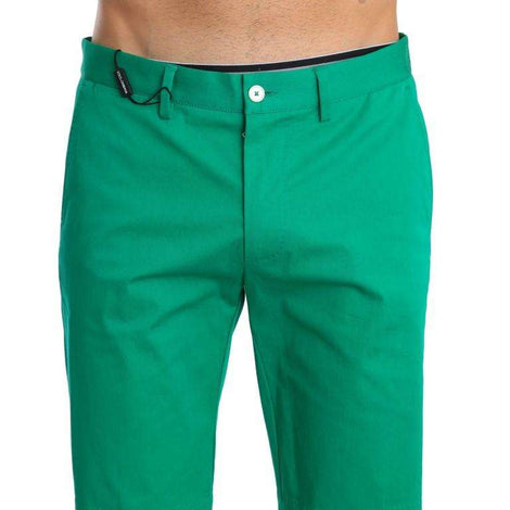 Dolce & Gabbana Green Cotton Stretch Chinos Shorts