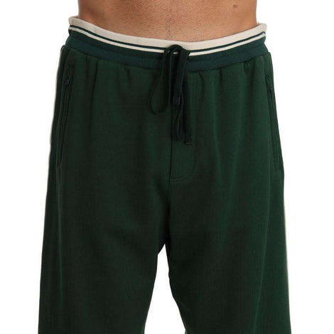 Dolce & Gabbana Green Cotton Sport Shorts