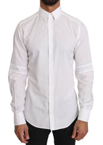 Dolce & Gabbana White Cotton 100% GOLD Shirt - Men - Apparel - Shirts - Dress Shirts - Dolce & Gabbana | Gethuda Fashion