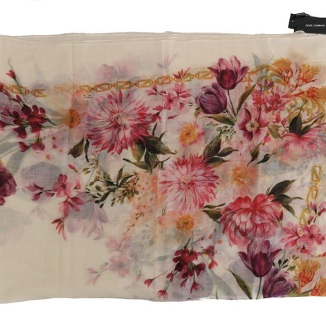 Dolce & Gabbana Multicolor Floral Cashmere Scarf