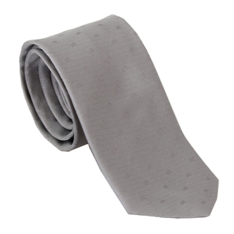 Dolce & Gabbana Grey 100% Silk Dotted Wide Classic Necktie - Men - Accessories - Ties - Dolce & Gabbana | Gethuda Fashion
