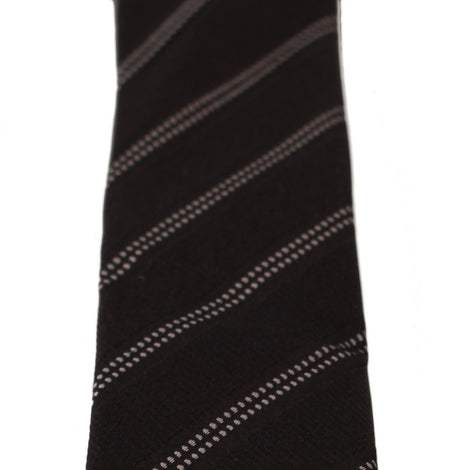 Dolce & Gabbana Black 100% Silk Stripes Classic Necktie Tie - Men - Accessories - Ties - Dolce & Gabbana | Gethuda Fashion