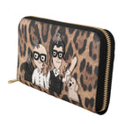 Dolce & Gabbana Brown Leather Leopard #dgfamily Continental Clutch Wallet - Men - Accessories - Wallets - Dolce & Gabbana | Gethuda Fashion