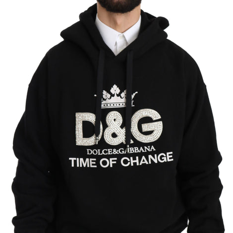 Dolce & Gabbana DG Crown Crystal Hooded Pullover Sweater - Men - Apparel - Sweaters - Pull Over - Dolce & Gabbana | Gethuda Fashion