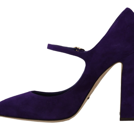 Dolce & Gabbana Purple Suede Mary Janes Pumps