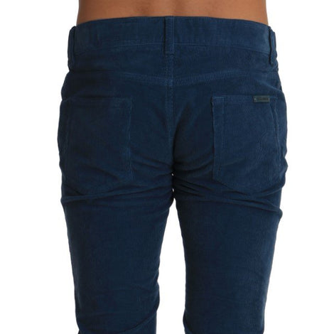 Dolce & Gabbana Corduroys Blue CLASSIC Stretch Pants Jeans - Men - Apparel - Trousers - Dolce & Gabbana | Gethuda Fashion