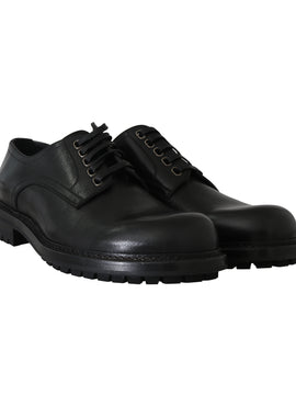 Dolce & Gabbana Black Leather Derby Dress Formal Shoes
