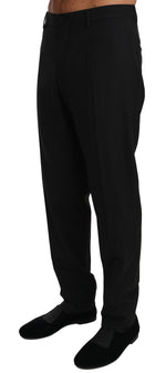 Dolce & Gabbana Black Wool Stretch Dress Trousers Pants - Men - Apparel - Trousers - Dolce & Gabbana | Gethuda Fashion