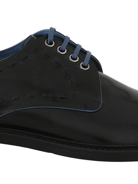 Dolce & Gabbana Black Leather Derby Formal Shoes