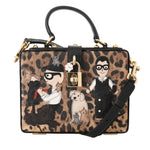Dolce & Gabbana Sicily Leopard Leather Hand Shoulder Bag - Women - Bags - Dolce & Gabbana | Gethuda Fashion